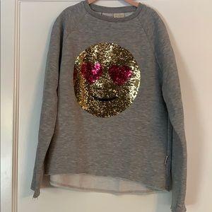 Zara flippy emoji sweatshirt